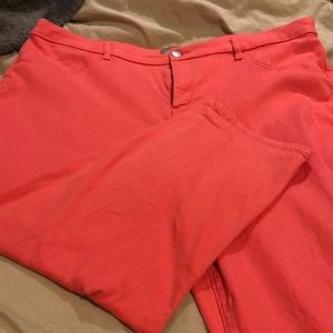 Beautiful, Chicos, size 3(16), coral, crop, pant